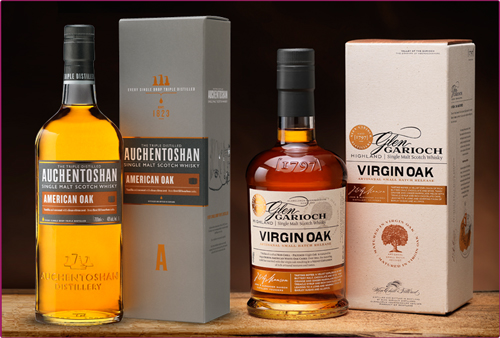 Auchentoshan American oak, Glen garioch Virgin Oak
