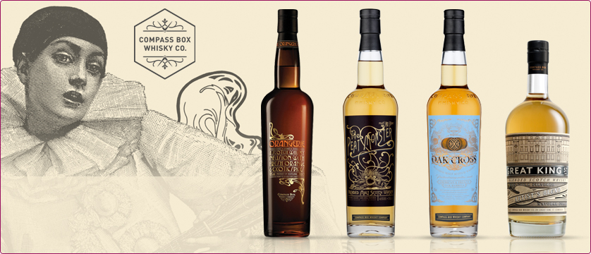 Compass Box, Hedonism, Orangerie, Oak Cross, Peat Monster, Asyla, Spice Tree, Great King Street Artist's Blend,Single Grain Szkocja, szkocka whisky, Single malt, destylarnia, Highland