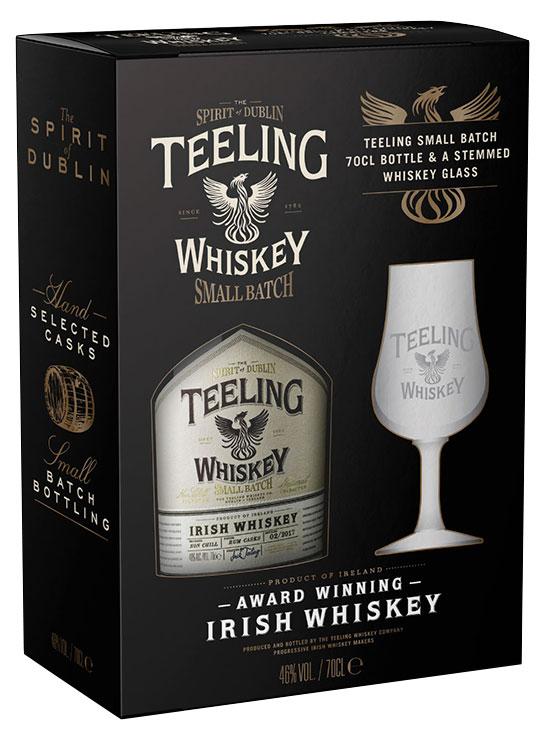 Teeling Small Batch rum finish - Zestaw z kieliszkiem